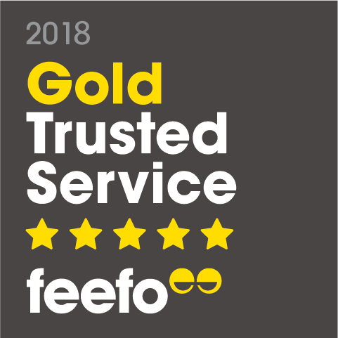 feefo gold trusted service 2018 dark
